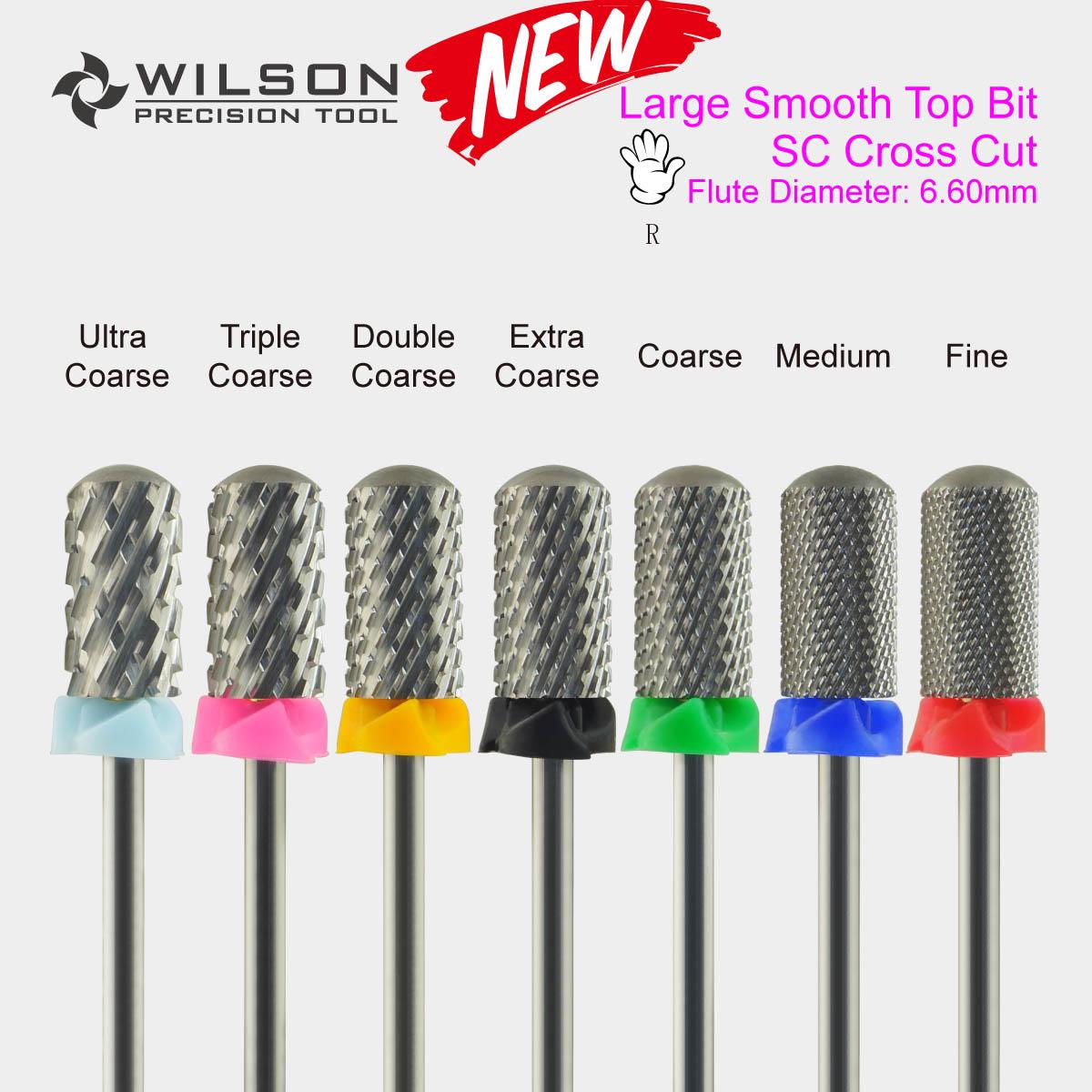Large Smooth Top Bit[SC Cross Cut] - Carbide Nail Bits