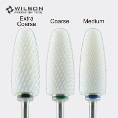 X-Large Flame Bit - Remove Foot Calluses Bit - White Ceramic Pedicure Drill Bit