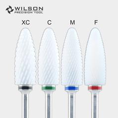 Big Flame Bit - Remove Foot Calluses Bit - White Ceramic Pedicure Drill Bit