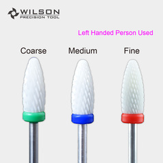 Flame - Ceramic Nail Bits - Left Handed Person Used